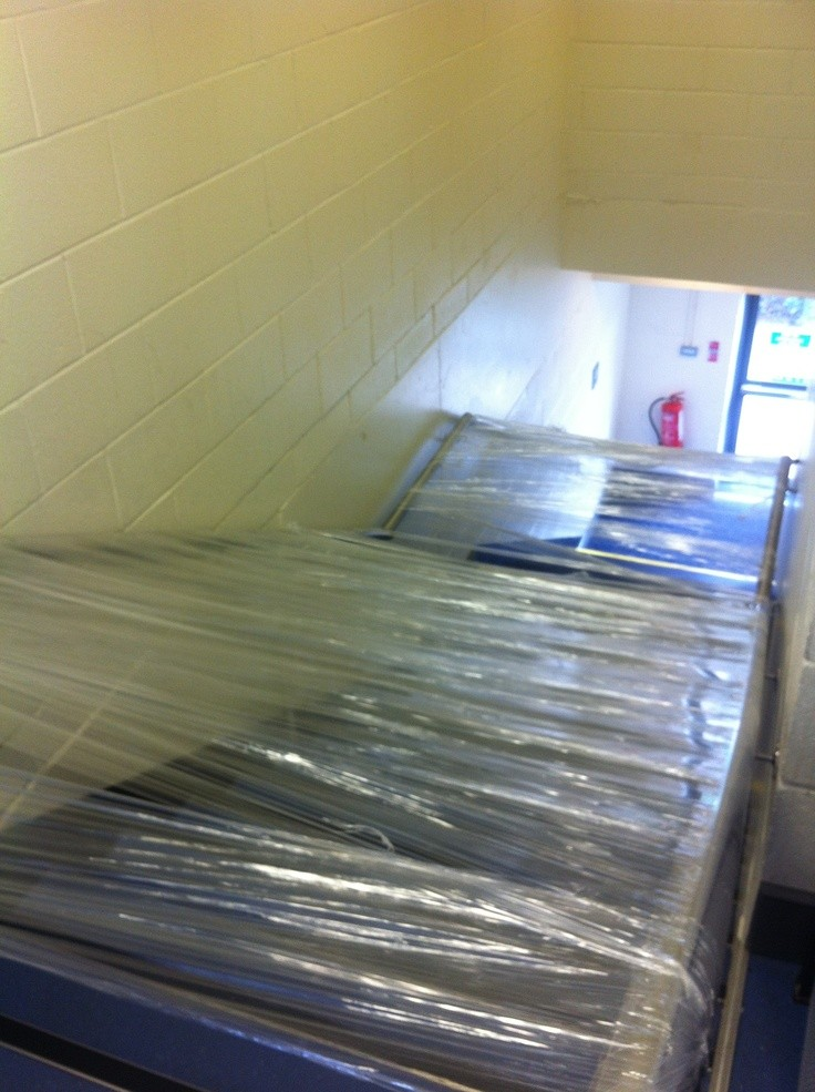 Wrap with cling wrap the main staircase